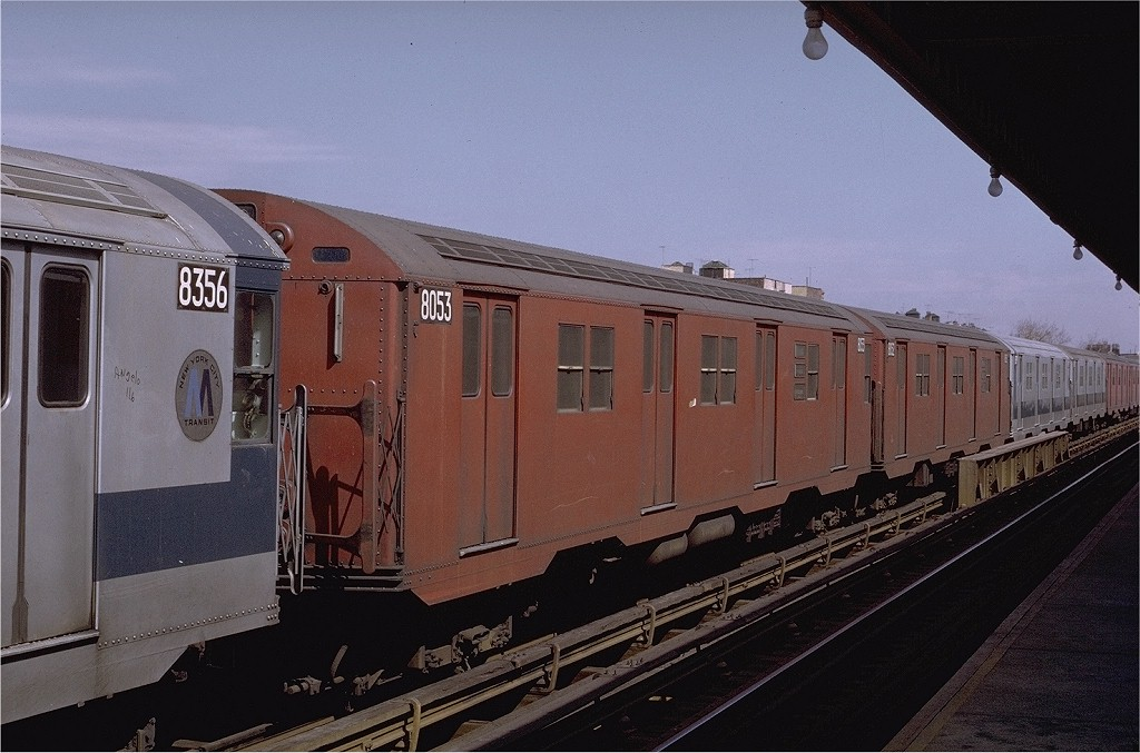 (182k, 1024x677)<br><b>Country:</b> United States<br><b>City:</b> New York<br><b>System:</b> New York City Transit<br><b>Line:</b> BMT Astoria Line<br><b>Location:</b> 36th/Washington Aves. <br><b>Route:</b> RR<br><b>Car:</b> R-27 (St. Louis, 1960)  8053 <br><b>Photo by:</b> Joe Testagrose<br><b>Date:</b> 3/28/1971<br><b>Viewed (this week/total):</b> 1 / 2812
