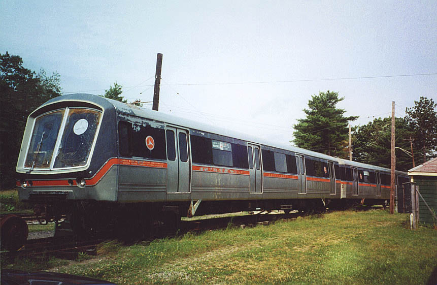 (100k, 861x561)<br><b>Country:</b> United States<br><b>City:</b> Kennebunk, ME<br><b>System:</b> Seashore Trolley Museum<br><b>Car:</b> SOAC  <br><b>Photo by:</b> Doug Diamond<br><b>Date:</b> 7/15/2000<br><b>Notes:</b> SOAC commuter and rapid transit cars<br><b>Viewed (this week/total):</b> 3 / 4952