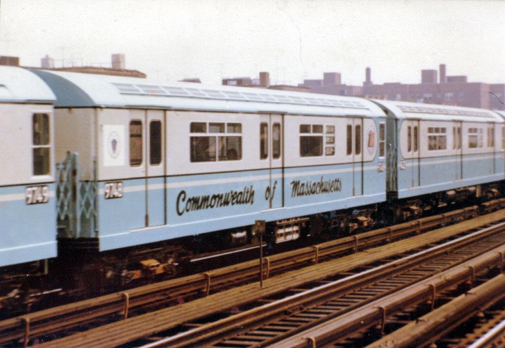 (159k, 1024x707)<br><b>Country:</b> United States<br><b>City:</b> New York<br><b>System:</b> New York City Transit<br><b>Line:</b> IRT Flushing Line<br><b>Location:</b> 90th Street/Elmhurst Avenue<br><b>Car:</b> R-36 World's Fair (St. Louis, 1963-64) 9748 <br><b>Collection of:</b> John Barnes<br><b>Notes:</b> Commonwealth of Massachusetts car.<br><b>Viewed (this week/total):</b> 1 / 8371