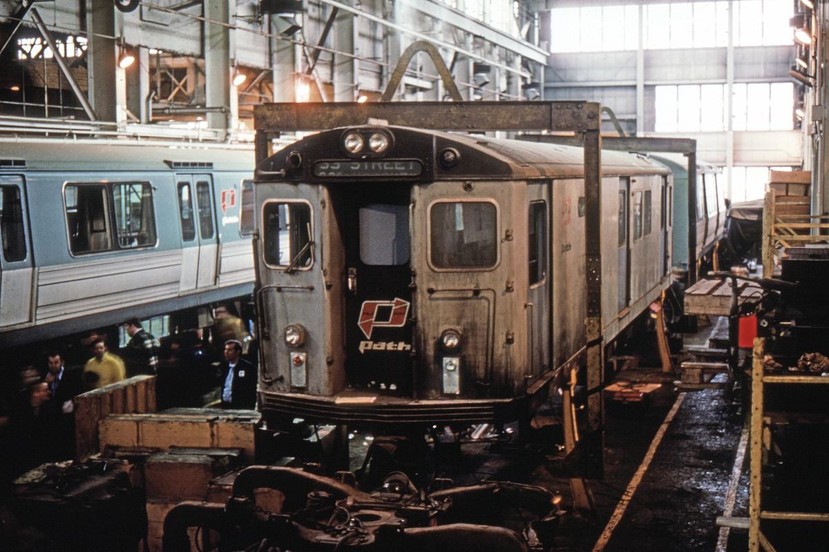 (359k, 1024x682)<br><b>Country:</b> United States<br><b>City:</b> Jersey City, NJ<br><b>System:</b> PATH<br><b>Location:</b> Henderson Yard <br><b>Car:</b> H&M/PATH K-class 12xx <br><b>Photo by:</b> Richard Short<br><b>Collection of:</b> David Pirmann<br><b>Date:</b> 3/6/1976<br><b>Viewed (this week/total):</b> 0 / 5164