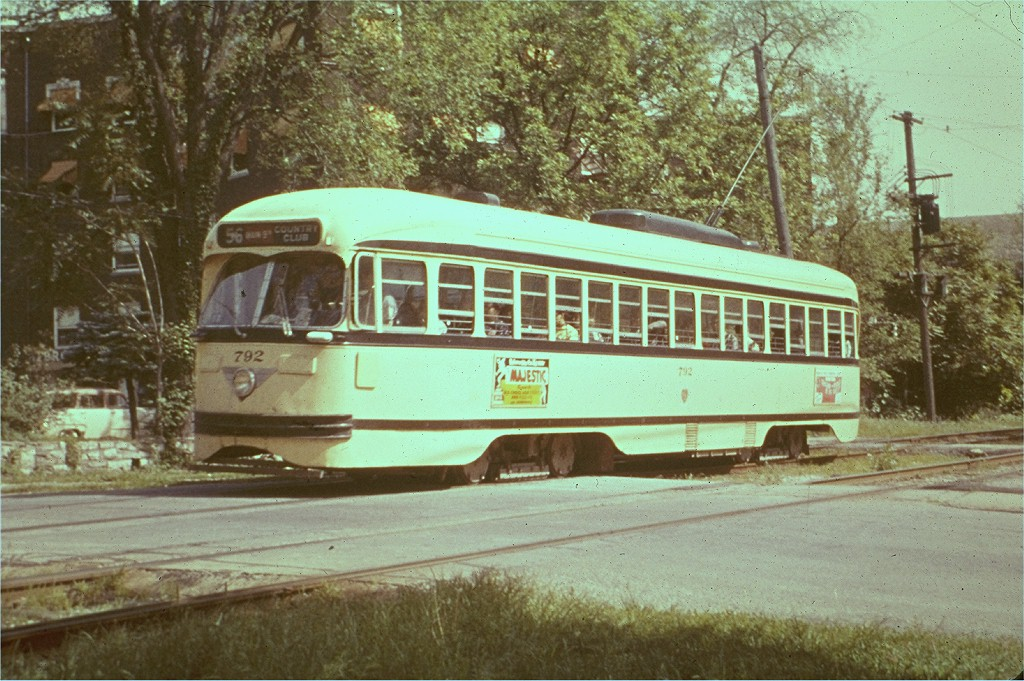 (227k, 1024x681)<br><b>Country:</b> United States<br><b>City:</b> Kansas City, MO<br><b>System:</b> Kansas City Public Service<br><b>Route:</b> Rt. 56<br><b>Car:</b> PCC 792 <br><b>Collection of:</b> Joe Testagrose<br><b>Date:</b> 6/3/1954<br><b>Viewed (this week/total):</b> 2 / 2013