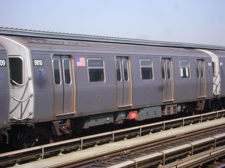 (87k, 768x576)<br><b>Country:</b> United States<br><b>City:</b> New York<br><b>System:</b> New York City Transit<br><b>Line:</b> BMT Culver Line<br><b>Location:</b> Avenue P <br><b>Route:</b> F<br><b>Car:</b> R-160B (Option 2) (Kawasaki, 2009)  9810 <br><b>Photo by:</b> John Dooley<br><b>Date:</b> 4/8/2010<br><b>Viewed (this week/total):</b> 6 / 1254