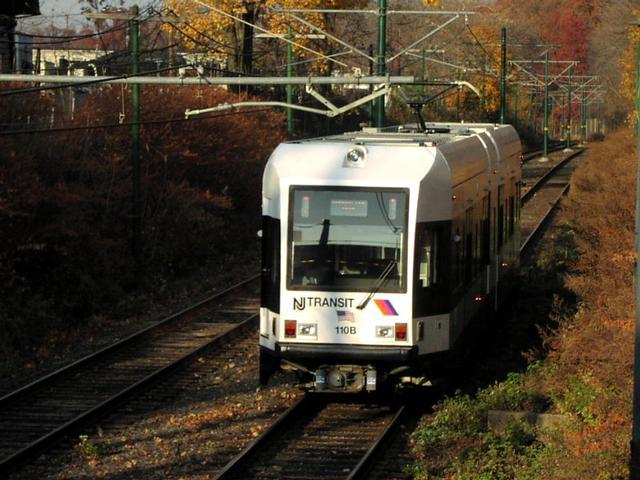 (58k, 640x480)<br><b>Country:</b> United States<br><b>City:</b> Newark, NJ<br><b>System:</b> Newark City Subway<br><b>Line:</b> 7-City Subway<br><b>Location:</b> Bloomfield Avenue <br><b>Car:</b> NJT Kinki-Sharyo LRV (Newark) 110 <br><b>Photo by:</b> Trevor Logan<br><b>Date:</b> 11/19/2001<br><b>Viewed (this week/total):</b> 0 / 4507