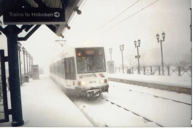 (27k, 640x430)<br><b>Country:</b> United States<br><b>City:</b> Jersey City, NJ<br><b>System:</b> Hudson Bergen Light Rail<br><b>Location:</b> Marin Boulevard <br><b>Car:</b> NJT-HBLR LRV (Kinki-Sharyo, 1998-99)  2021 <br><b>Photo by:</b> worktrain<br><b>Date:</b> 2/2000<br><b>Viewed (this week/total):</b> 0 / 4471