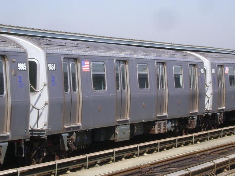 (87k, 768x576)<br><b>Country:</b> United States<br><b>City:</b> New York<br><b>System:</b> New York City Transit<br><b>Line:</b> BMT Culver Line<br><b>Location:</b> Avenue P <br><b>Route:</b> F<br><b>Car:</b> R-160B (Option 2) (Kawasaki, 2009)  9884 <br><b>Photo by:</b> John Dooley<br><b>Date:</b> 4/8/2010<br><b>Viewed (this week/total):</b> 0 / 966
