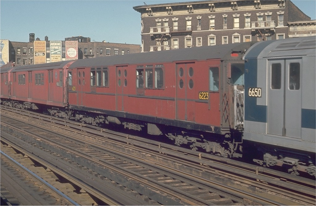 (186k, 1024x670)<br><b>Country:</b> United States<br><b>City:</b> New York<br><b>System:</b> New York City Transit<br><b>Line:</b> IRT White Plains Road Line<br><b>Location:</b> Prospect Avenue <br><b>Route:</b> 5<br><b>Car:</b> R-15 (American Car & Foundry, 1950) 6223 <br><b>Photo by:</b> Joe Testagrose<br><b>Date:</b> 5/30/1970<br><b>Viewed (this week/total):</b> 2 / 2747