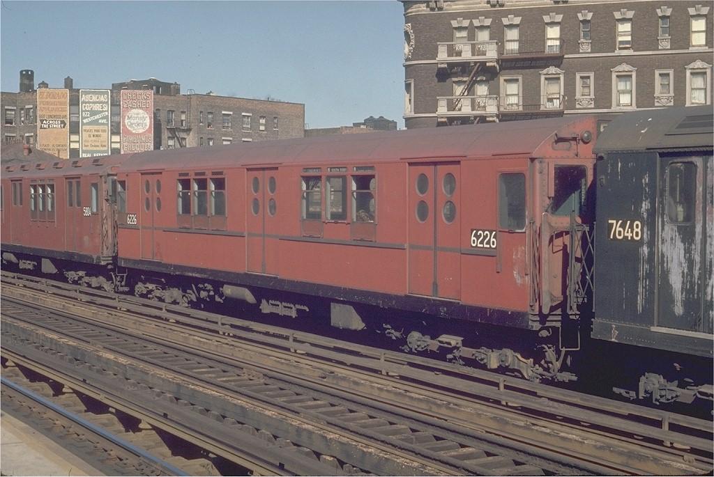 (213k, 1024x685)<br><b>Country:</b> United States<br><b>City:</b> New York<br><b>System:</b> New York City Transit<br><b>Line:</b> IRT White Plains Road Line<br><b>Location:</b> Prospect Avenue <br><b>Route:</b> 5<br><b>Car:</b> R-15 (American Car & Foundry, 1950) 6226 <br><b>Photo by:</b> Joe Testagrose<br><b>Date:</b> 5/30/1970<br><b>Viewed (this week/total):</b> 2 / 2594