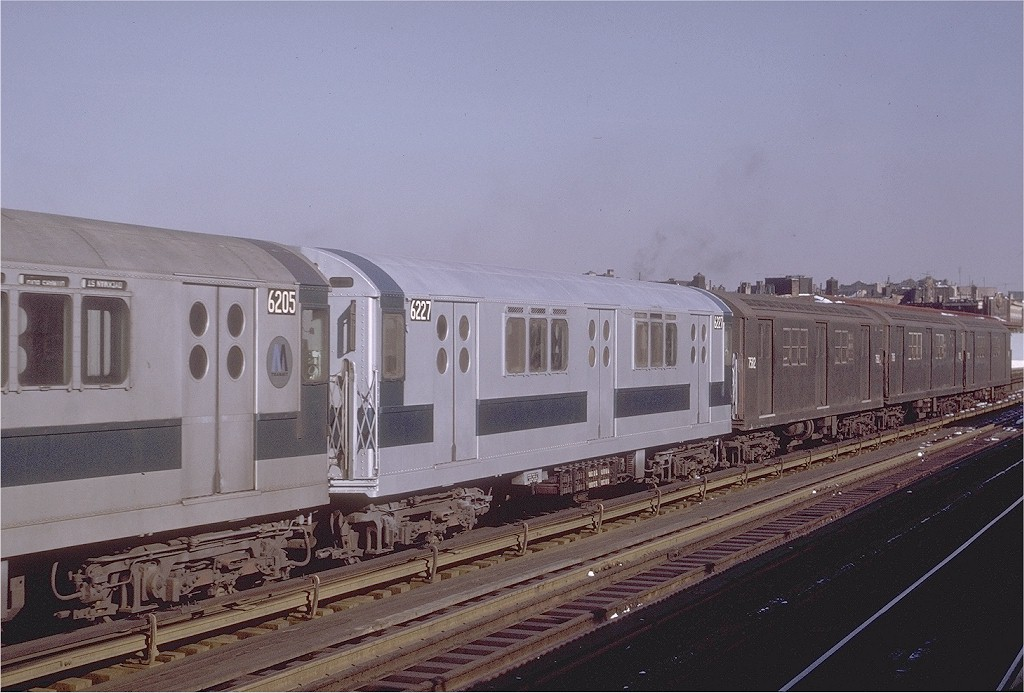 (182k, 1024x693)<br><b>Country:</b> United States<br><b>City:</b> New York<br><b>System:</b> New York City Transit<br><b>Line:</b> IRT White Plains Road Line<br><b>Location:</b> Intervale Avenue <br><b>Route:</b> 5<br><b>Car:</b> R-15 (American Car & Foundry, 1950) 6227 <br><b>Photo by:</b> Joe Testagrose<br><b>Date:</b> 1/2/1971<br><b>Viewed (this week/total):</b> 0 / 3045