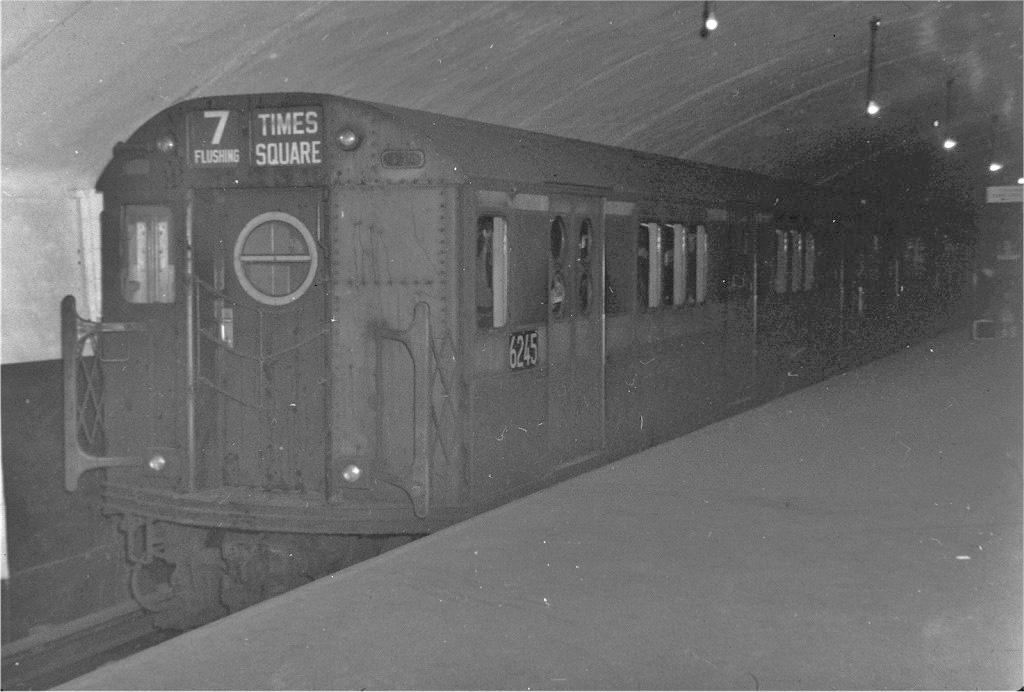 (173k, 1024x692)<br><b>Country:</b> United States<br><b>City:</b> New York<br><b>System:</b> New York City Transit<br><b>Line:</b> IRT Flushing Line<br><b>Location:</b> Grand Central <br><b>Route:</b> 7<br><b>Car:</b> R-15 (American Car & Foundry, 1950) 6245 <br><b>Collection of:</b> Joe Testagrose<br><b>Viewed (this week/total):</b> 1 / 4453