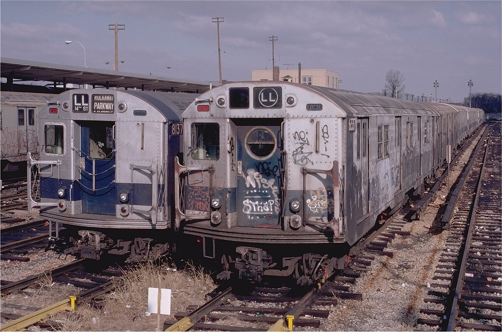 (261k, 1024x678)<br><b>Country:</b> United States<br><b>City:</b> New York<br><b>System:</b> New York City Transit<br><b>Location:</b> Rockaway Parkway (Canarsie) Yard<br><b>Car:</b> R-16 (American Car & Foundry, 1955) 6337 <br><b>Photo by:</b> Doug Grotjahn<br><b>Collection of:</b> Joe Testagrose<br><b>Date:</b> 11/22/1980<br><b>Viewed (this week/total):</b> 0 / 6053