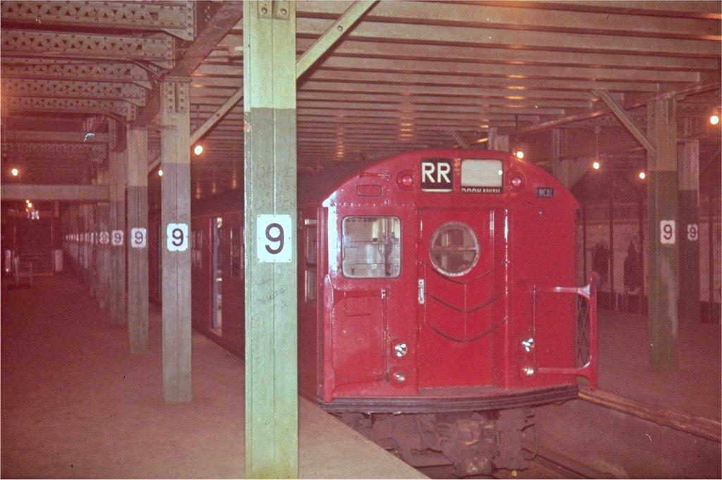 (236k, 1024x681)<br><b>Country:</b> United States<br><b>City:</b> New York<br><b>System:</b> New York City Transit<br><b>Line:</b> BMT Culver Line<br><b>Location:</b> 9th Avenue (Lower Level) <br><b>Route:</b> Culver Shuttle<br><b>Car:</b> R-16 (American Car & Foundry, 1955) 6348 <br><b>Collection of:</b> Steve Zabel<br><b>Viewed (this week/total):</b> 3 / 6112