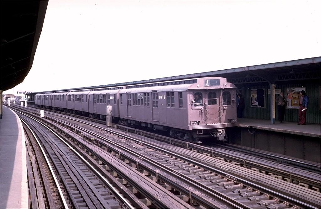 (188k, 1024x666)<br><b>Country:</b> United States<br><b>City:</b> New York<br><b>System:</b> New York City Transit<br><b>Line:</b> IND Fulton Street Line<br><b>Location:</b> Rockaway Boulevard <br><b>Route:</b> Fan Trip<br><b>Car:</b> BMT D-Type Triplex 6019 <br><b>Photo by:</b> Steve Zabel<br><b>Collection of:</b> Joe Testagrose<br><b>Date:</b> 5/13/1973<br><b>Viewed (this week/total):</b> 3 / 2909