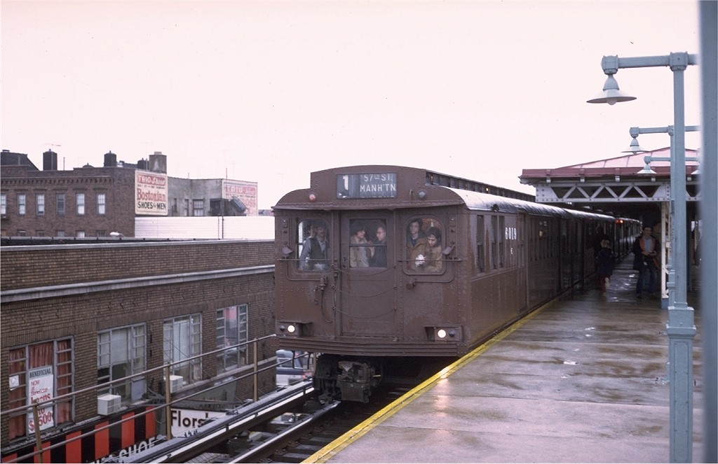 (150k, 1024x663)<br><b>Country:</b> United States<br><b>City:</b> New York<br><b>System:</b> New York City Transit<br><b>Line:</b> BMT West End Line<br><b>Location:</b> Bay Parkway <br><b>Route:</b> Fan Trip<br><b>Car:</b> BMT D-Type Triplex 6019 <br><b>Photo by:</b> Steve Zabel<br><b>Collection of:</b> Joe Testagrose<br><b>Date:</b> 12/9/1973<br><b>Viewed (this week/total):</b> 5 / 4660