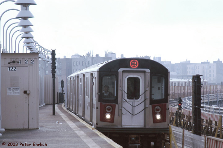 (100k, 720x478)<br><b>Country:</b> United States<br><b>City:</b> New York<br><b>System:</b> New York City Transit<br><b>Line:</b> IRT White Plains Road Line<br><b>Location:</b> West Farms Sq./East Tremont Ave./177th St. <br><b>Route:</b> 2<br><b>Car:</b> R-142 (Primary Order, Bombardier, 1999-2002)  6521 <br><b>Photo by:</b> Peter Ehrlich<br><b>Date:</b> 3/5/2003<br><b>Viewed (this week/total):</b> 1 / 5636