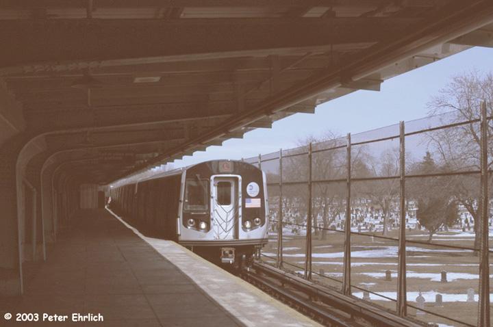 (110k, 720x478)<br><b>Country:</b> United States<br><b>City:</b> New York<br><b>System:</b> New York City Transit<br><b>Line:</b> BMT Canarsie Line<br><b>Location:</b> Wilson Avenue <br><b>Route:</b> L<br><b>Car:</b> R-143 (Kawasaki, 2001-2002) 8141 <br><b>Photo by:</b> Peter Ehrlich<br><b>Date:</b> 3/4/2003<br><b>Viewed (this week/total):</b> 0 / 6096