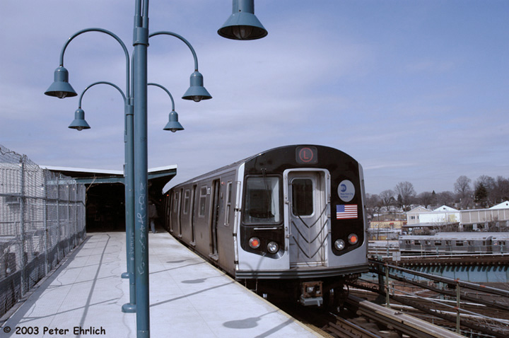(119k, 720x478)<br><b>Country:</b> United States<br><b>City:</b> New York<br><b>System:</b> New York City Transit<br><b>Line:</b> BMT Canarsie Line<br><b>Location:</b> Broadway Junction <br><b>Route:</b> L<br><b>Car:</b> R-143 (Kawasaki, 2001-2002) 8172 <br><b>Photo by:</b> Peter Ehrlich<br><b>Date:</b> 3/4/2003<br><b>Viewed (this week/total):</b> 0 / 4335