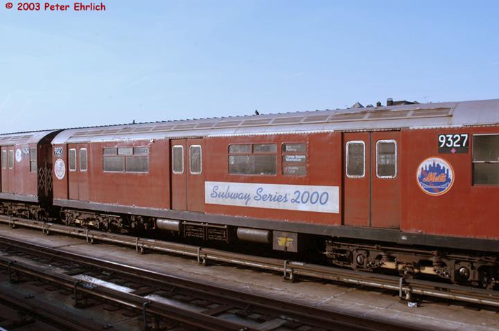 (119k, 720x478)<br><b>Country:</b> United States<br><b>City:</b> New York<br><b>System:</b> New York City Transit<br><b>Line:</b> IRT Flushing Line<br><b>Location:</b> 40th Street/Lowery Street <br><b>Route:</b> 7<br><b>Car:</b> R-33 World's Fair (St. Louis, 1963-64) 9327 <br><b>Photo by:</b> Peter Ehrlich<br><b>Date:</b> 3/4/2003<br><b>Viewed (this week/total):</b> 0 / 3908