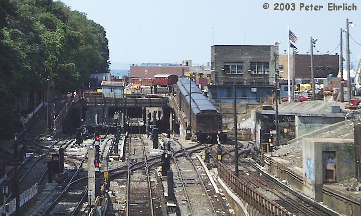 (177k, 720x430)<br><b>Country:</b> United States<br><b>City:</b> New York<br><b>System:</b> New York City Transit<br><b>Location:</b> 36th Street Yard<br><b>Route:</b> Fan Trip<br><b>Car:</b> BMT D-Type Triplex 6112 <br><b>Photo by:</b> Peter Ehrlich<br><b>Date:</b> 8/26/2001<br><b>Notes:</b> BMT D-Types 6112/6019 on 39th Street Yard Ramp on fantrip.<br><b>Viewed (this week/total):</b> 0 / 6668
