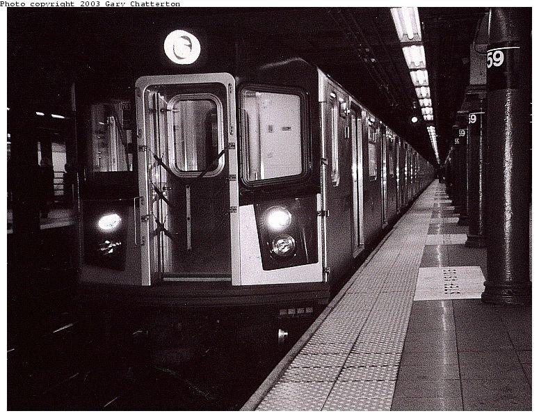 (125k, 775x601)<br><b>Country:</b> United States<br><b>City:</b> New York<br><b>System:</b> New York City Transit<br><b>Line:</b> IRT East Side Line<br><b>Location:</b> 59th Street <br><b>Route:</b> 6<br><b>Car:</b> R-142A (Option Order, Kawasaki, 2002-2003)  7615 <br><b>Photo by:</b> Gary Chatterton<br><b>Date:</b> 1/2003<br><b>Viewed (this week/total):</b> 0 / 7173