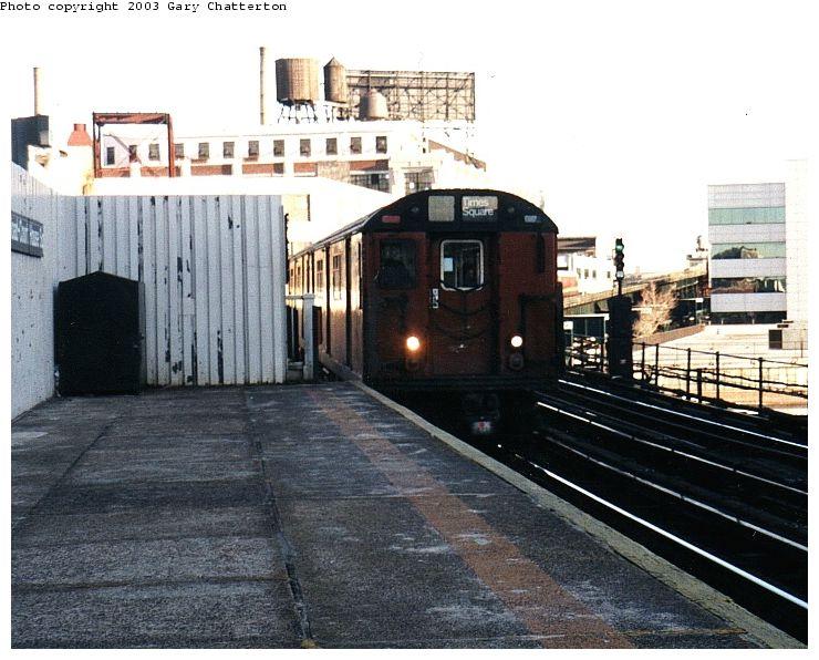 (88k, 740x596)<br><b>Country:</b> United States<br><b>City:</b> New York<br><b>System:</b> New York City Transit<br><b>Line:</b> IRT Flushing Line<br><b>Location:</b> Court House Square/45th Road <br><b>Route:</b> 7<br><b>Car:</b> R-36 World's Fair (St. Louis, 1963-64) 9697 <br><b>Photo by:</b> Gary Chatterton<br><b>Date:</b> 1/2003<br><b>Viewed (this week/total):</b> 0 / 3524