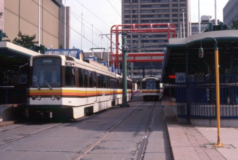 (83k, 800x539)<br><b>Country:</b> United States<br><b>City:</b> Buffalo, NY<br><b>System:</b> NFTA-Metro<br><b>Location:</b> Erie Canal Harbor <br><b>Car:</b>  106 <br><b>Photo by:</b> Chris Leverett<br><b>Date:</b> 7/24/2002<br><b>Viewed (this week/total):</b> 1 / 7357