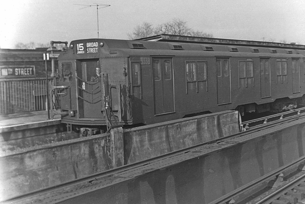 (244k, 1024x683)<br><b>Country:</b> United States<br><b>City:</b> New York<br><b>System:</b> New York City Transit<br><b>Line:</b> BMT Nassau Street/Jamaica Line<br><b>Location:</b> 111th Street <br><b>Route:</b> BMT 15<br><b>Car:</b> R-10 (American Car & Foundry, 1948) 3338 <br><b>Collection of:</b> David Pirmann<br><b>Viewed (this week/total):</b> 0 / 3864