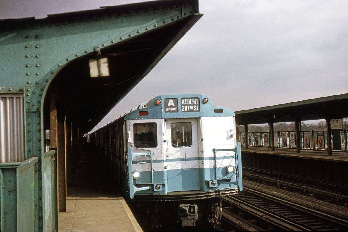 (299k, 1024x683)<br><b>Country:</b> United States<br><b>City:</b> New York<br><b>System:</b> New York City Transit<br><b>Line:</b> IND Fulton Street Line<br><b>Location:</b> 80th Street/Hudson Street <br><b>Route:</b> A<br><b>Car:</b> R-10 (American Car & Foundry, 1948)  <br><b>Photo by:</b> Gerald H. Landau<br><b>Collection of:</b> David Pirmann<br><b>Date:</b> 12/15/1968<br><b>Viewed (this week/total):</b> 1 / 6252