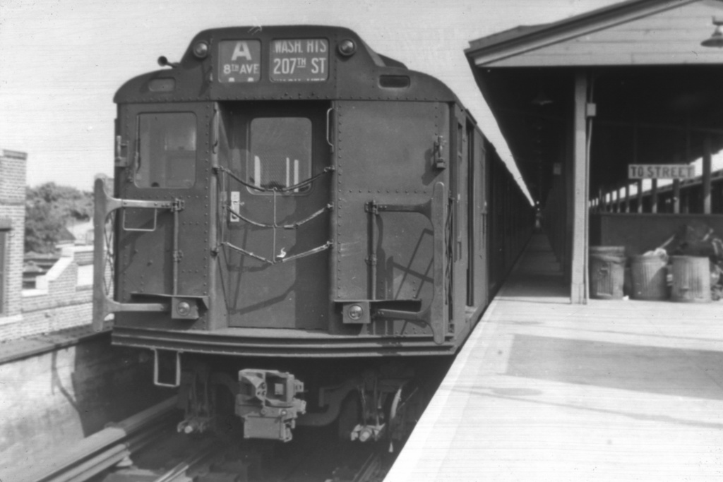 (236k, 1044x710)<br><b>Country:</b> United States<br><b>City:</b> New York<br><b>System:</b> New York City Transit<br><b>Line:</b> IND Fulton Street Line<br><b>Location:</b> Lefferts Boulevard <br><b>Route:</b> A<br><b>Car:</b> R-10 (American Car & Foundry, 1948)  <br><b>Collection of:</b> David Pirmann<br><b>Viewed (this week/total):</b> 0 / 4333