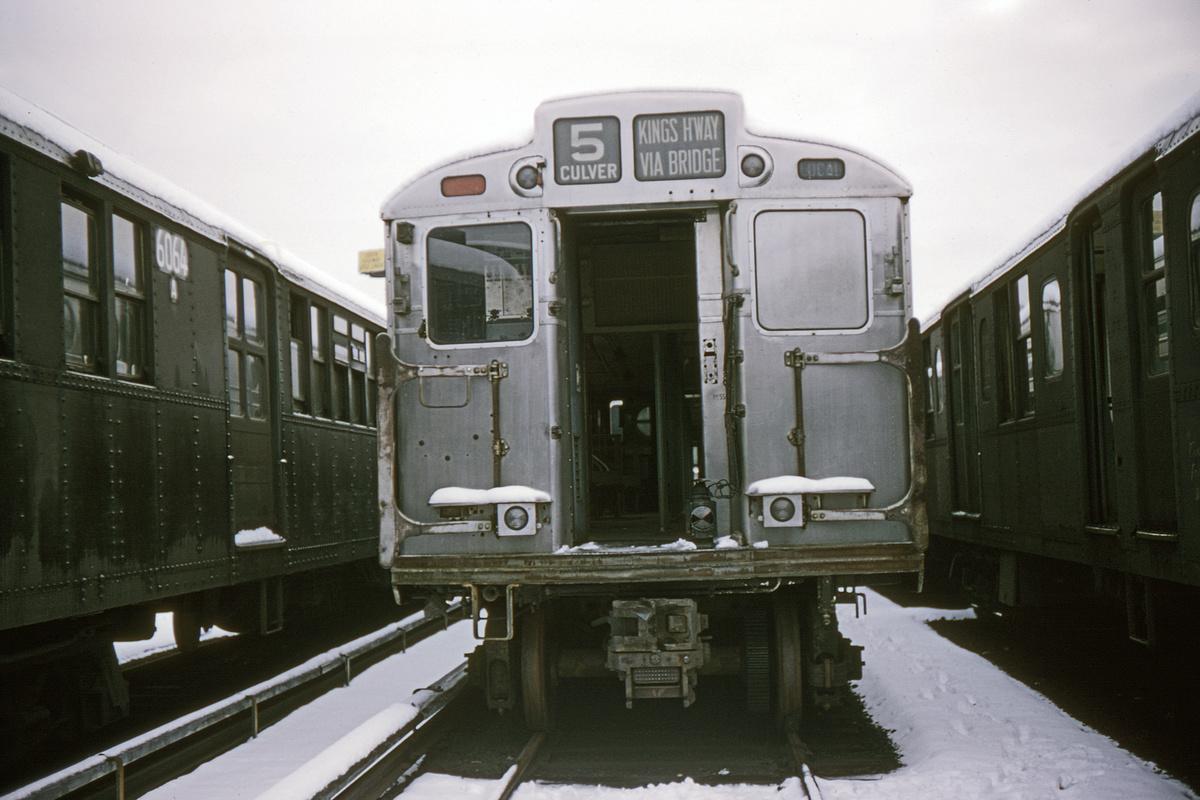 (256k, 1044x711)<br><b>Country:</b> United States<br><b>City:</b> New York<br><b>System:</b> New York City Transit<br><b>Location:</b> Coney Island Yard<br><b>Car:</b> R-11 (Budd, 1949) 8012 <br><b>Collection of:</b> David Pirmann<br><b>Date:</b> 12/20/1964<br><b>Viewed (this week/total):</b> 2 / 3452