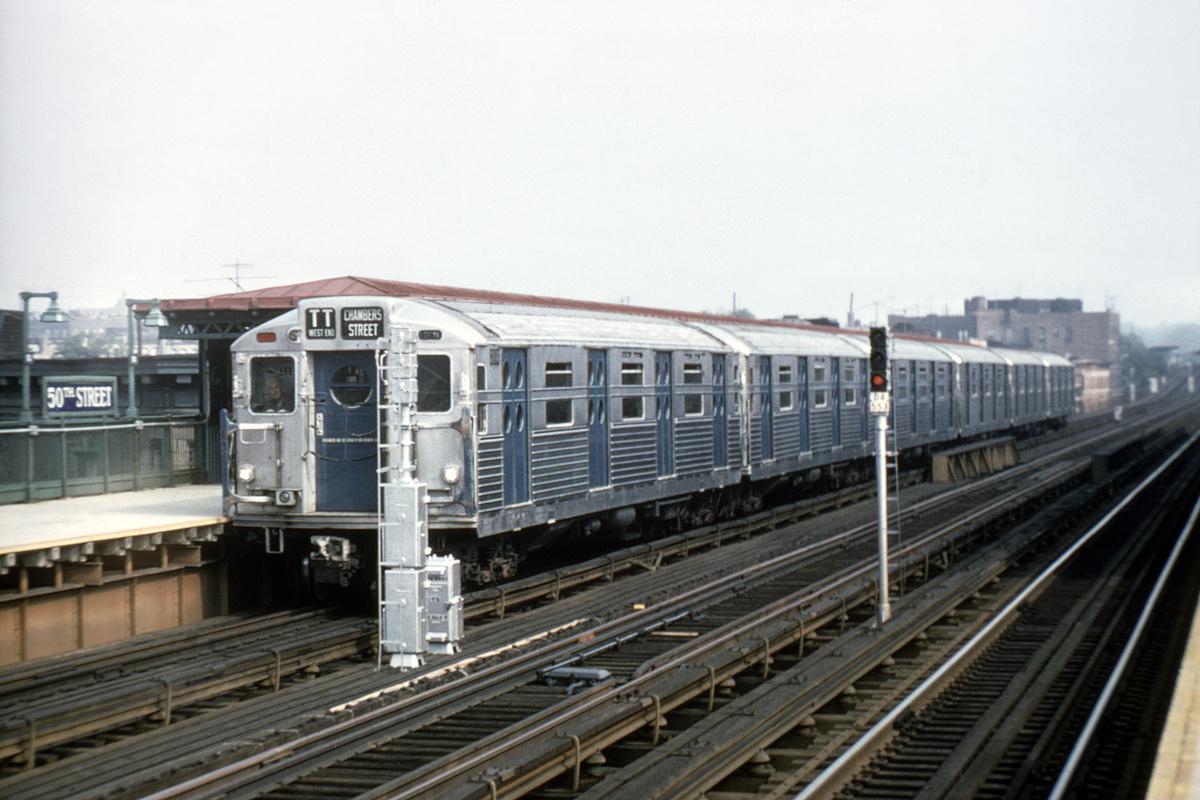(389k, 1024x683)<br><b>Country:</b> United States<br><b>City:</b> New York<br><b>System:</b> New York City Transit<br><b>Line:</b> BMT West End Line<br><b>Location:</b> 50th Street <br><b>Car:</b> R-11 (Budd, 1949) 8013 <br><b>Collection of:</b> David Pirmann<br><b>Viewed (this week/total):</b> 1 / 3511