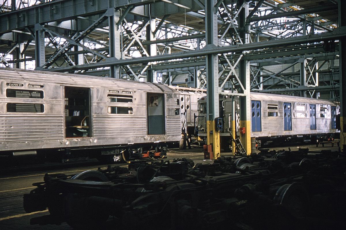 (394k, 1024x683)<br><b>Country:</b> United States<br><b>City:</b> New York<br><b>System:</b> New York City Transit<br><b>Location:</b> Coney Island Shop/Overhaul & Repair Shop<br><b>Car:</b> R-11 (Budd, 1949) 8014 <br><b>Collection of:</b> David Pirmann<br><b>Date:</b> 3/13/1965<br><b>Viewed (this week/total):</b> 2 / 3098