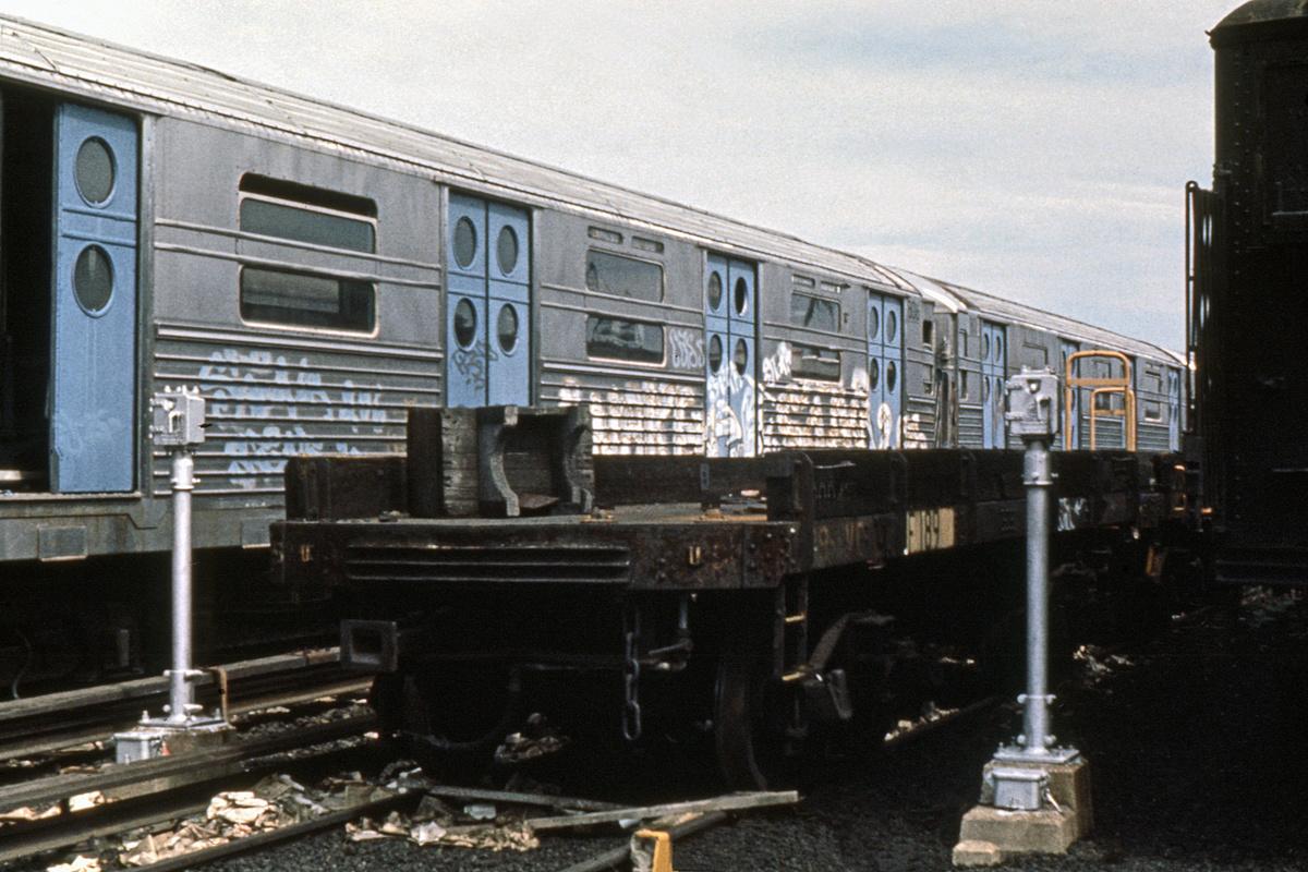 (397k, 1044x712)<br><b>Country:</b> United States<br><b>City:</b> New York<br><b>System:</b> New York City Transit<br><b>Location:</b> Coney Island Yard<br><b>Car:</b> R-11 (Budd, 1949) 8016 <br><b>Collection of:</b> David Pirmann<br><b>Date:</b> 6/12/1977<br><b>Viewed (this week/total):</b> 3 / 4140