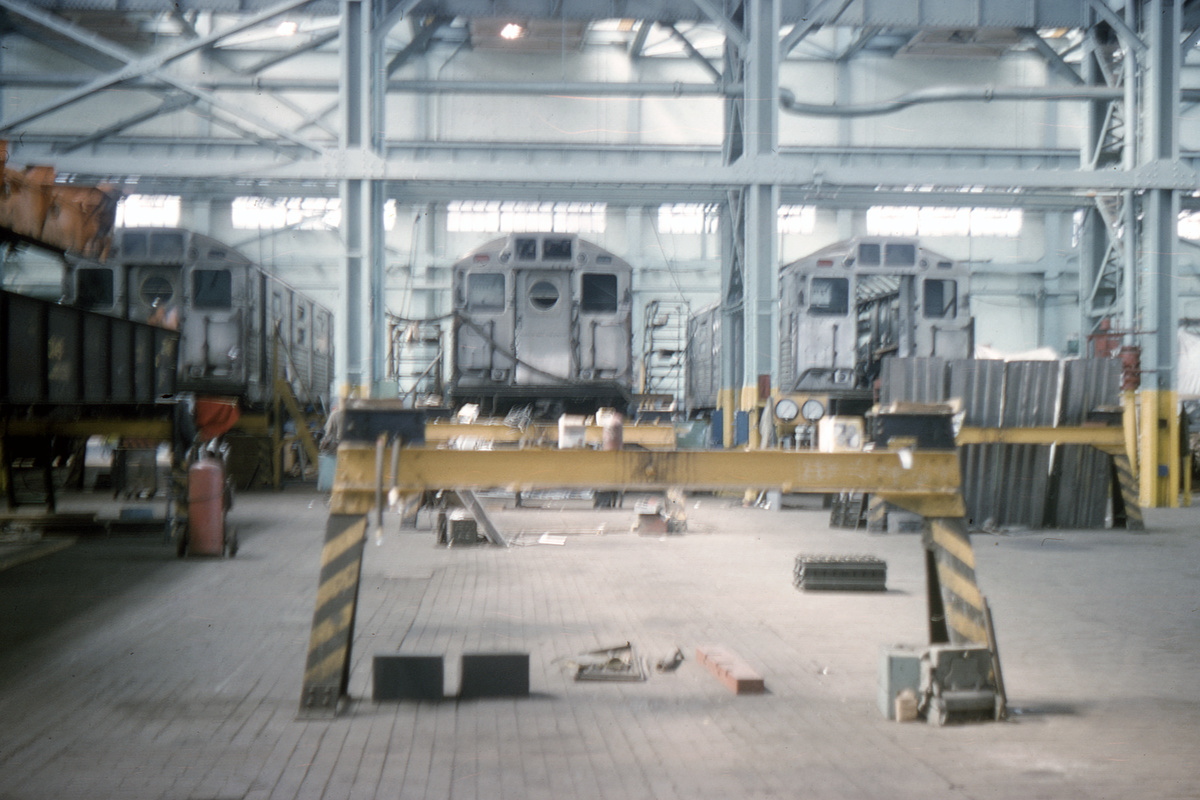 (334k, 1024x683)<br><b>Country:</b> United States<br><b>City:</b> New York<br><b>System:</b> New York City Transit<br><b>Location:</b> Coney Island Shop/Overhaul & Repair Shop<br><b>Car:</b> R-11 (Budd, 1949)  <br><b>Collection of:</b> David Pirmann<br><b>Date:</b> 6/20/1965<br><b>Viewed (this week/total):</b> 2 / 4328