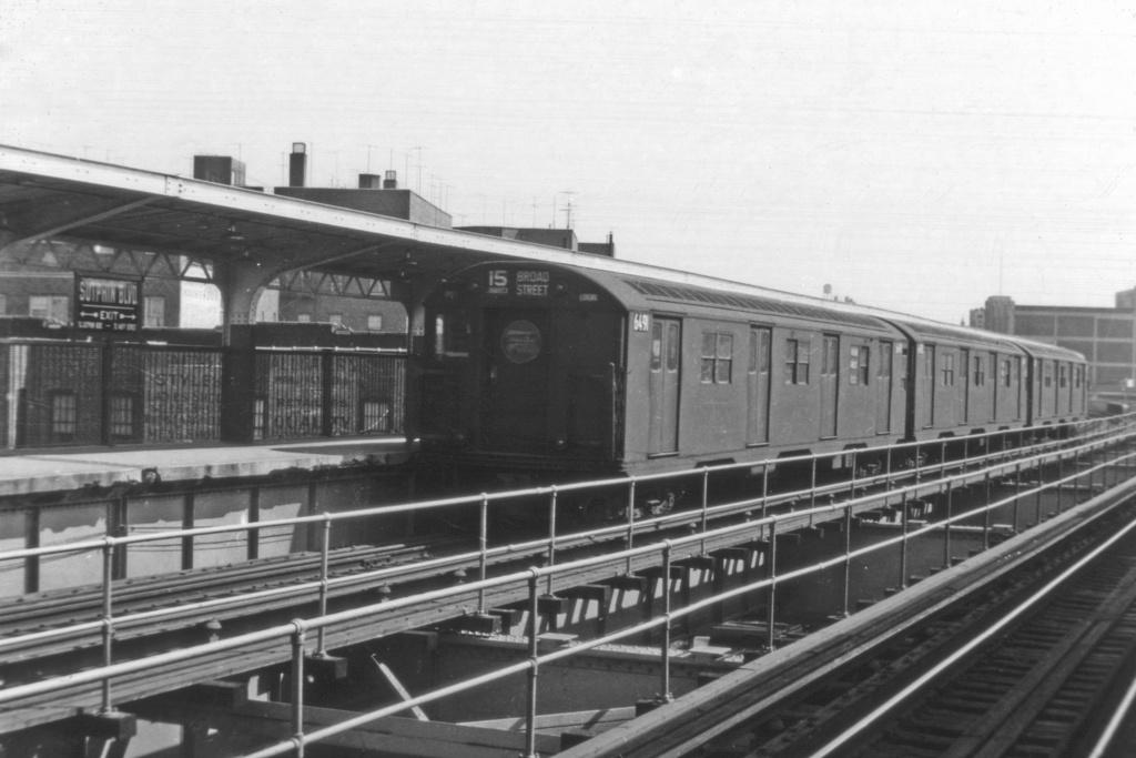 (274k, 1044x709)<br><b>Country:</b> United States<br><b>City:</b> New York<br><b>System:</b> New York City Transit<br><b>Line:</b> BMT Nassau Street/Jamaica Line<br><b>Location:</b> Sutphin Boulevard (Demolished) <br><b>Route:</b> BMT 15<br><b>Car:</b> R-16 (American Car & Foundry, 1955) 6491 <br><b>Collection of:</b> David Pirmann<br><b>Viewed (this week/total):</b> 0 / 4608