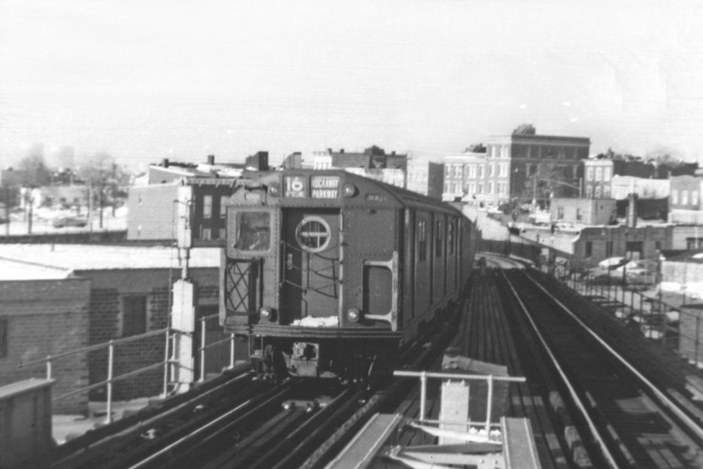 (252k, 1044x712)<br><b>Country:</b> United States<br><b>City:</b> New York<br><b>System:</b> New York City Transit<br><b>Line:</b> BMT Canarsie Line<br><b>Location:</b> Broadway Junction <br><b>Route:</b> BMT 16<br><b>Car:</b> R-16 (American Car & Foundry, 1955)  <br><b>Collection of:</b> David Pirmann<br><b>Viewed (this week/total):</b> 5 / 3433