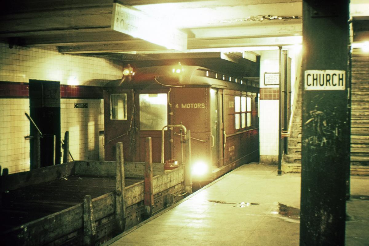 (341k, 1024x683)<br><b>Country:</b> United States<br><b>City:</b> New York<br><b>System:</b> New York City Transit<br><b>Line:</b> IND Crosstown Line<br><b>Location:</b> Church Avenue <br><b>Car:</b> Low-V LV32 (ex-5425)<br><b>Collection of:</b> David Pirmann<br><b>Viewed (this week/total):</b> 5 / 5709