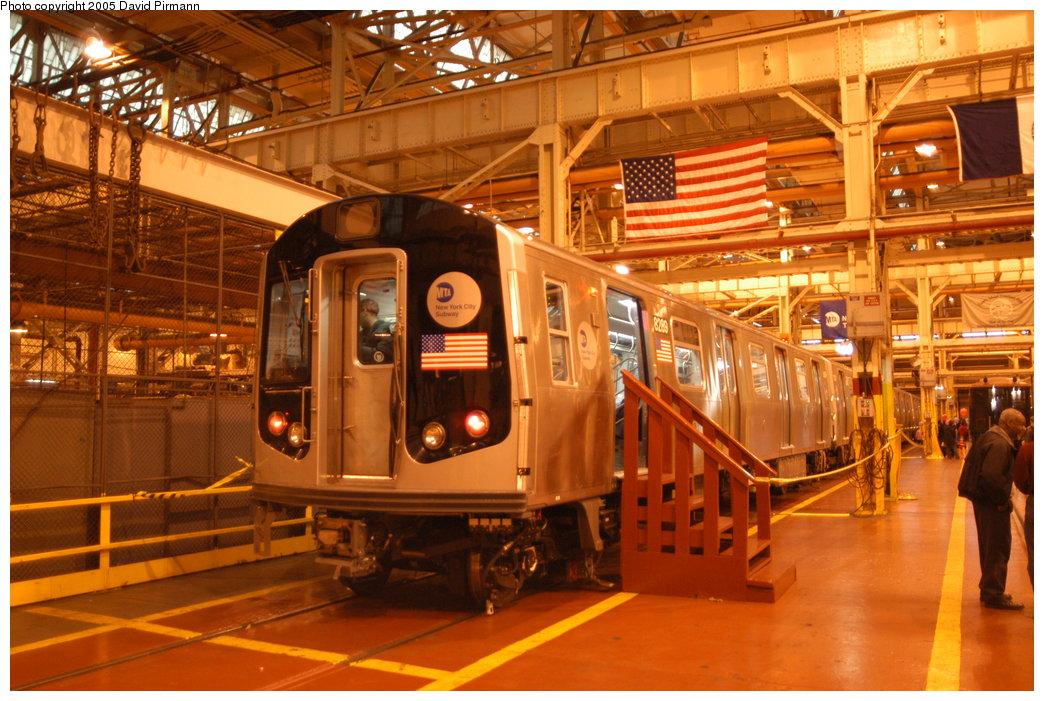 (230k, 1044x701)<br><b>Country:</b> United States<br><b>City:</b> New York<br><b>System:</b> New York City Transit<br><b>Location:</b> Coney Island Shop/Overhaul & Repair Shop<br><b>Car:</b> R-143 (Kawasaki, 2001-2002) 8289 <br><b>Photo by:</b> David Pirmann<br><b>Date:</b> 4/5/2003<br><b>Viewed (this week/total):</b> 0 / 14229