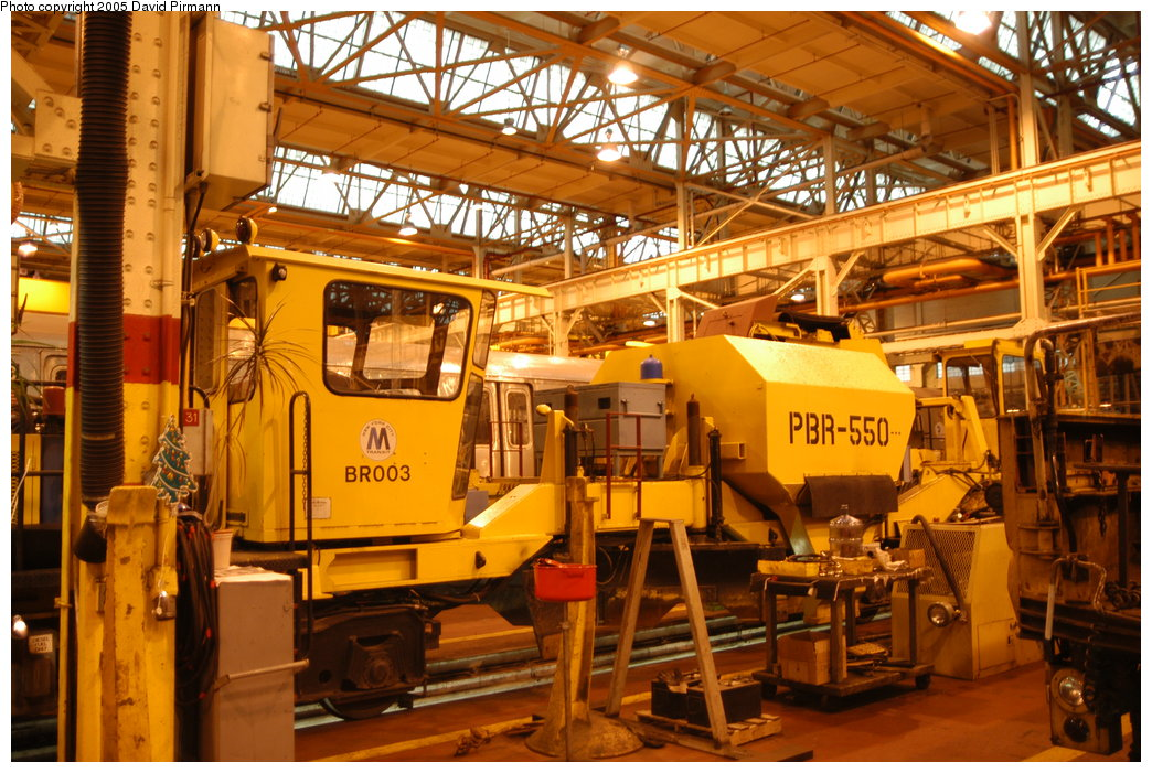 (250k, 1044x701)<br><b>Country:</b> United States<br><b>City:</b> New York<br><b>System:</b> New York City Transit<br><b>Location:</b> Coney Island Shop/Overhaul & Repair Shop<br><b>Car:</b> R-125 Ballast Regulator  BR003 <br><b>Photo by:</b> David Pirmann<br><b>Date:</b> 4/5/2003<br><b>Viewed (this week/total):</b> 0 / 3507
