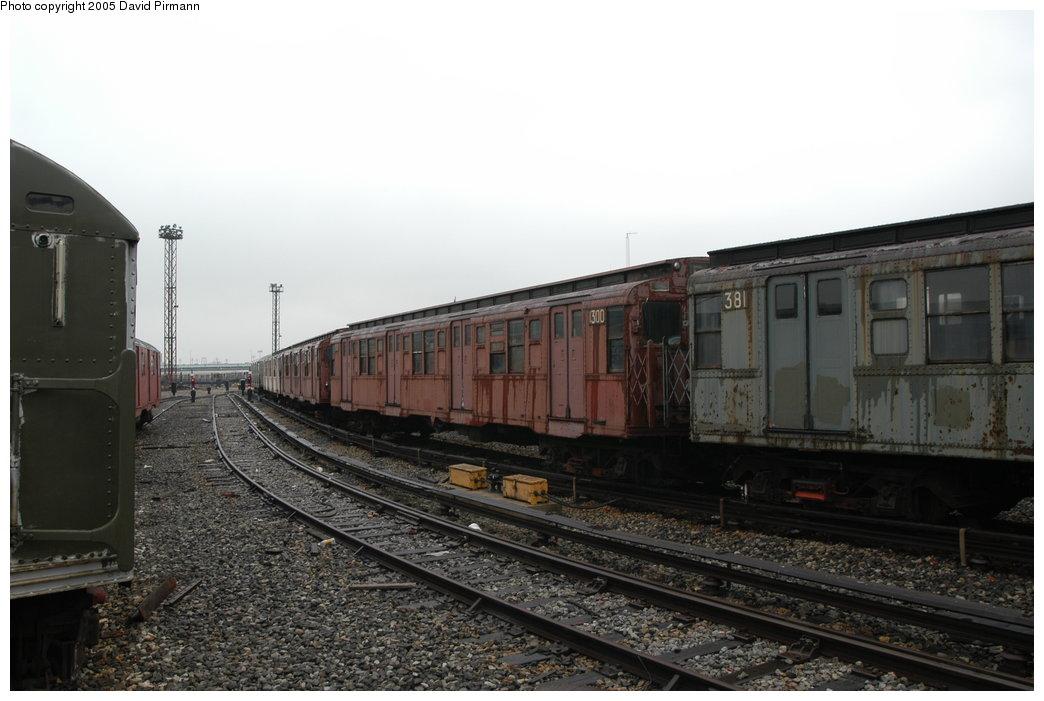 (171k, 1044x701)<br><b>Country:</b> United States<br><b>City:</b> New York<br><b>System:</b> New York City Transit<br><b>Location:</b> Coney Island Yard-Museum Yard<br><b>Car:</b> R-6-1 (Pressed Steel, 1936)  1300 <br><b>Photo by:</b> David Pirmann<br><b>Date:</b> 4/5/2003<br><b>Viewed (this week/total):</b> 0 / 7471