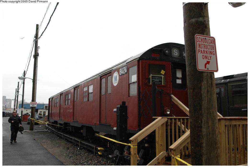 (160k, 1044x701)<br><b>Country:</b> United States<br><b>City:</b> New York<br><b>System:</b> New York City Transit<br><b>Location:</b> Coney Island Yard-Training Facilities<br><b>Car:</b> R-30 (St. Louis, 1961) 8424 <br><b>Photo by:</b> David Pirmann<br><b>Date:</b> 4/5/2003<br><b>Viewed (this week/total):</b> 0 / 5574