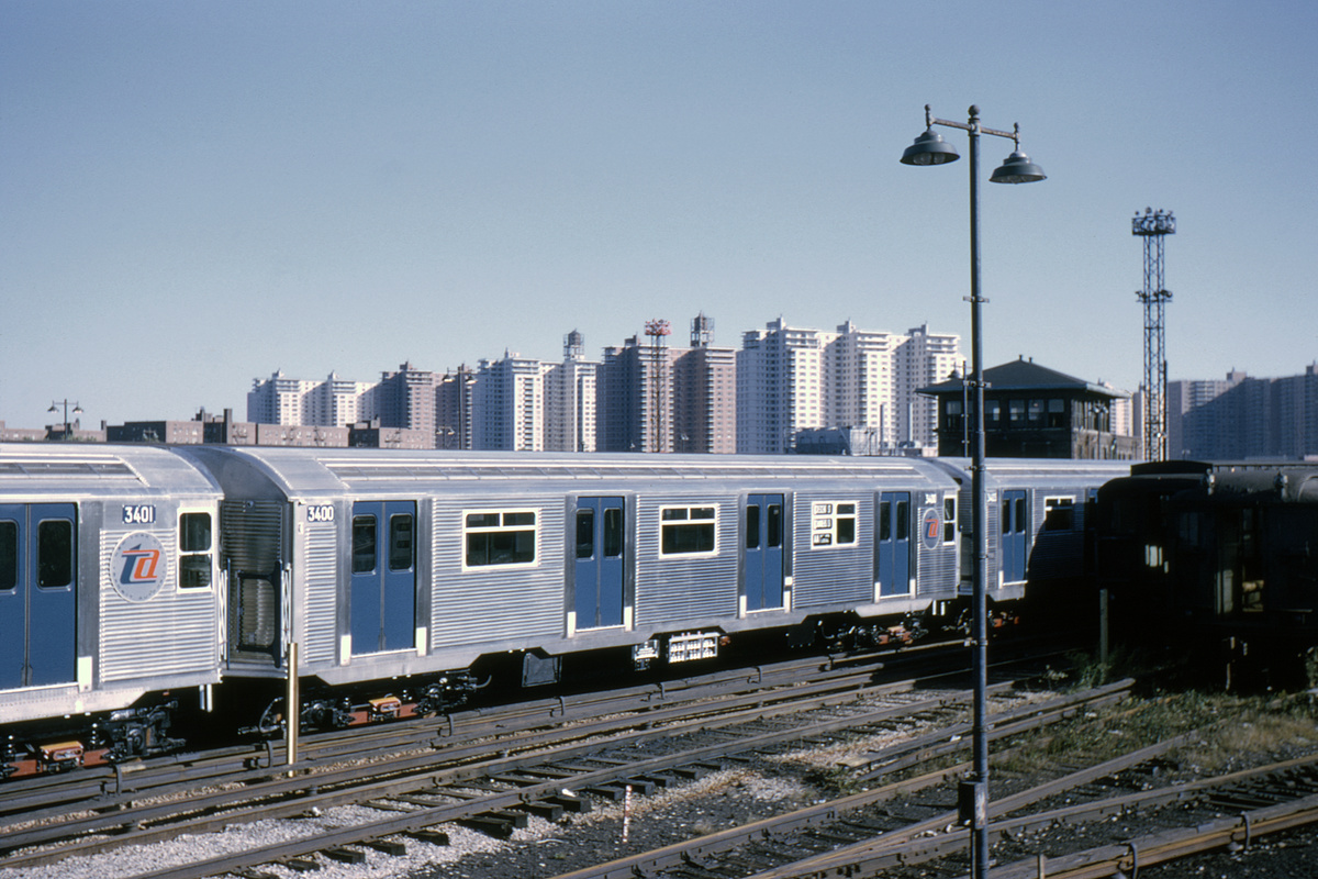 (388k, 1044x694)<br><b>Country:</b> United States<br><b>City:</b> New York<br><b>System:</b> New York City Transit<br><b>Location:</b> Coney Island Yard<br><b>Car:</b> R-32 (Budd, 1964)  3400 <br><b>Collection of:</b> David Pirmann<br><b>Date:</b> 10/3/1964<br><b>Viewed (this week/total):</b> 0 / 5452