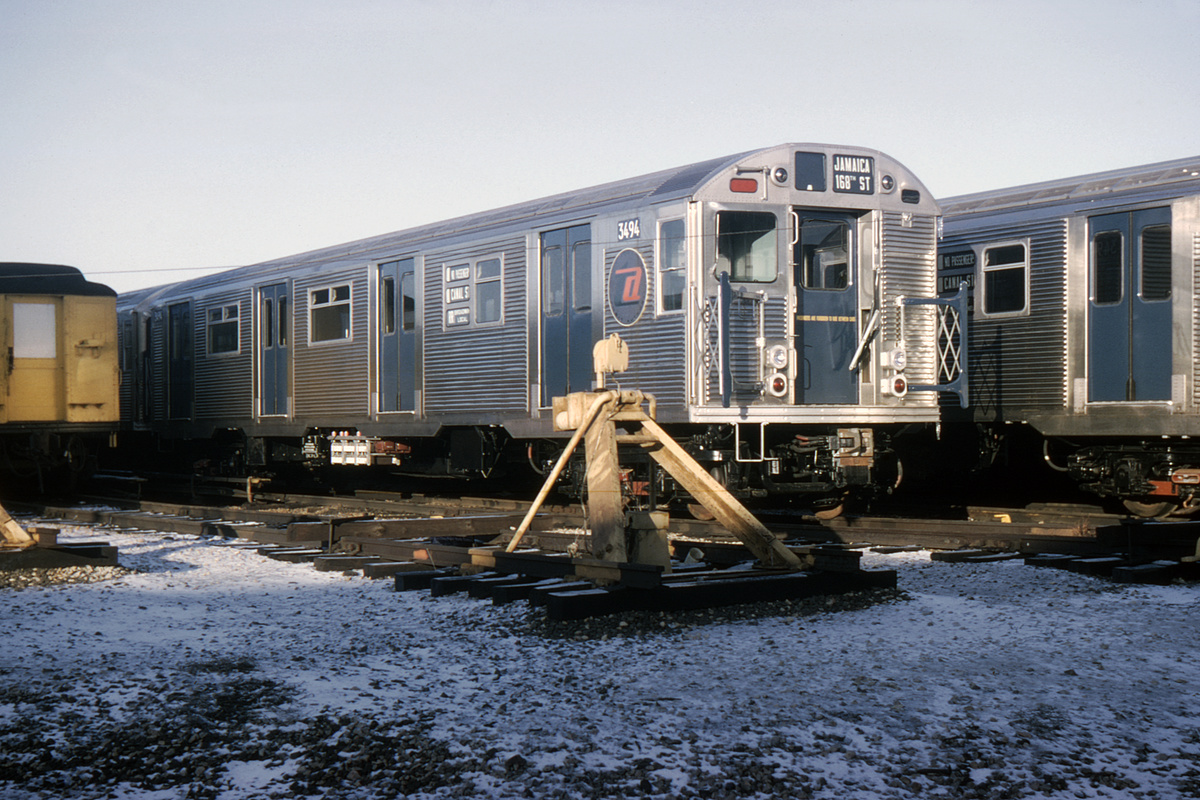 (402k, 1044x705)<br><b>Country:</b> United States<br><b>City:</b> New York<br><b>System:</b> New York City Transit<br><b>Location:</b> Coney Island Yard<br><b>Car:</b> R-32 (Budd, 1964)  3494 <br><b>Collection of:</b> David Pirmann<br><b>Date:</b> 1/3/1965<br><b>Viewed (this week/total):</b> 1 / 8718