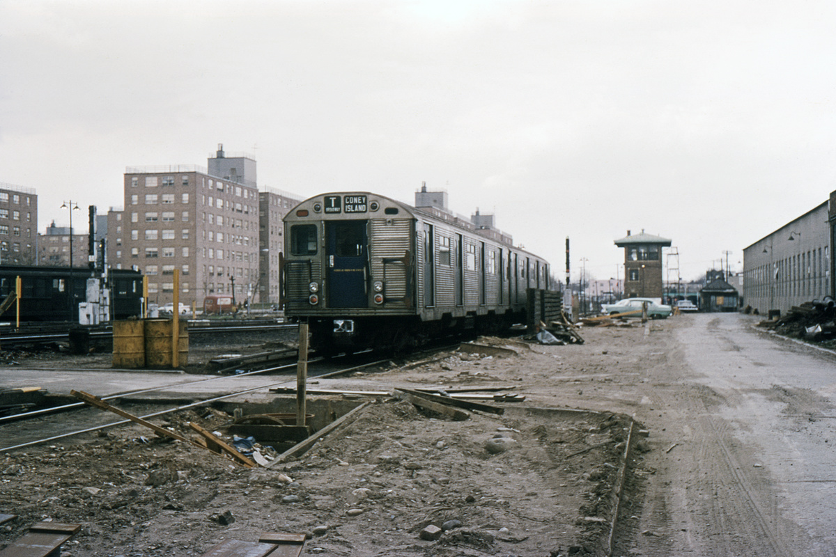 (342k, 1024x683)<br><b>Country:</b> United States<br><b>City:</b> New York<br><b>System:</b> New York City Transit<br><b>Location:</b> Coney Island Yard<br><b>Car:</b> R-32 (Budd, 1964)  3635 <br><b>Collection of:</b> David Pirmann<br><b>Date:</b> 4/9/1966<br><b>Viewed (this week/total):</b> 0 / 3494