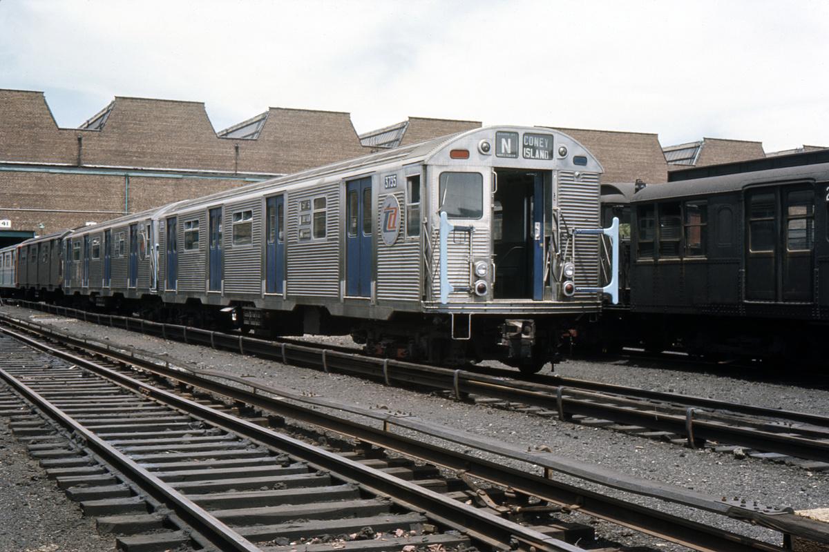 (373k, 1024x683)<br><b>Country:</b> United States<br><b>City:</b> New York<br><b>System:</b> New York City Transit<br><b>Location:</b> Coney Island Yard<br><b>Car:</b> R-32 (Budd, 1964)  3735 <br><b>Collection of:</b> David Pirmann<br><b>Date:</b> 2/25/1966<br><b>Viewed (this week/total):</b> 1 / 3383