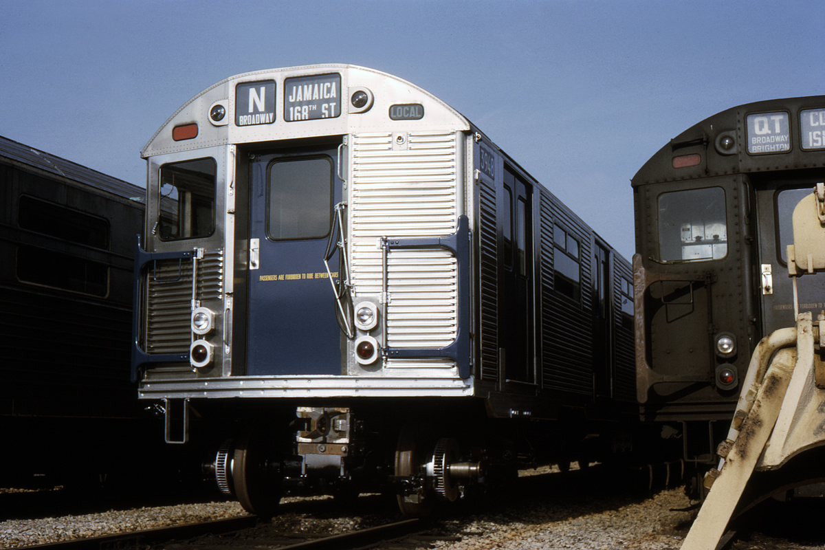 (347k, 1044x710)<br><b>Country:</b> United States<br><b>City:</b> New York<br><b>System:</b> New York City Transit<br><b>Location:</b> Coney Island Yard<br><b>Car:</b> R-32 (Budd, 1964)  3948 <br><b>Collection of:</b> David Pirmann<br><b>Date:</b> 1/15/1966<br><b>Viewed (this week/total):</b> 5 / 4335