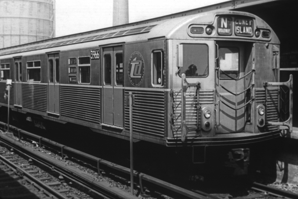 (197k, 1024x683)<br><b>Country:</b> United States<br><b>City:</b> New York<br><b>System:</b> New York City Transit<br><b>Location:</b> Coney Island/Stillwell Avenue<br><b>Route:</b> N<br><b>Car:</b> R-38 (St. Louis, 1966-1967)  3966 <br><b>Collection of:</b> David Pirmann<br><b>Viewed (this week/total):</b> 0 / 4366