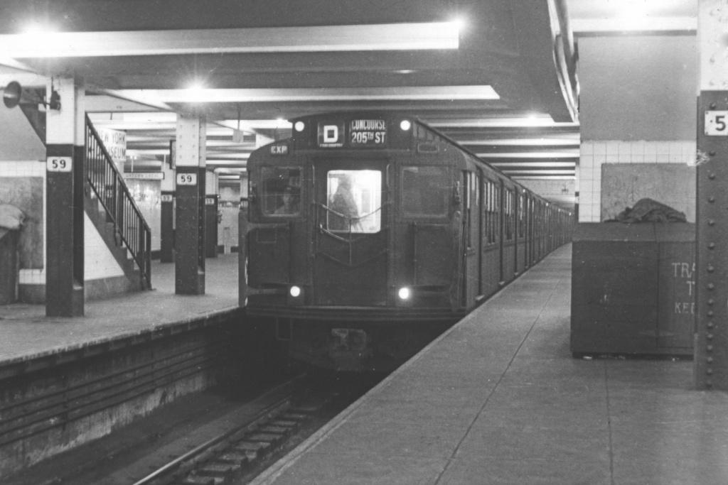 (303k, 1044x707)<br><b>Country:</b> United States<br><b>City:</b> New York<br><b>System:</b> New York City Transit<br><b>Line:</b> IND 8th Avenue Line<br><b>Location:</b> 59th Street/Columbus Circle <br><b>Route:</b> D<br><b>Car:</b> R-1/R-9 Series   <br><b>Collection of:</b> David Pirmann<br><b>Viewed (this week/total):</b> 1 / 3771