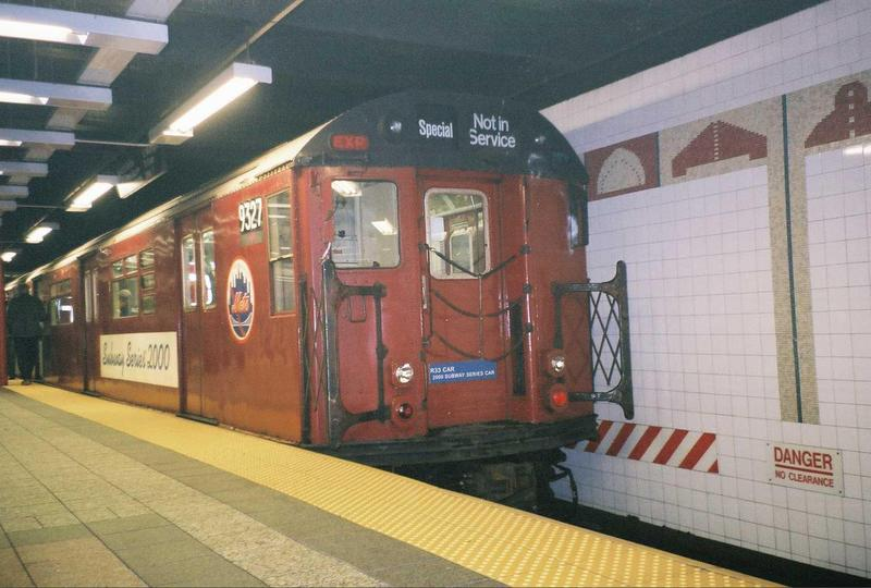(65k, 800x540)<br><b>Country:</b> United States<br><b>City:</b> New York<br><b>System:</b> New York City Transit<br><b>Line:</b> IRT Times Square-Grand Central Shuttle<br><b>Location:</b> Grand Central <br><b>Route:</b> Fan Trip<br><b>Car:</b> R-33 World's Fair (St. Louis, 1963-64) 9327 <br><b>Photo by:</b> Gary Chatterton<br><b>Date:</b> 5/1/2005<br><b>Viewed (this week/total):</b> 0 / 3784