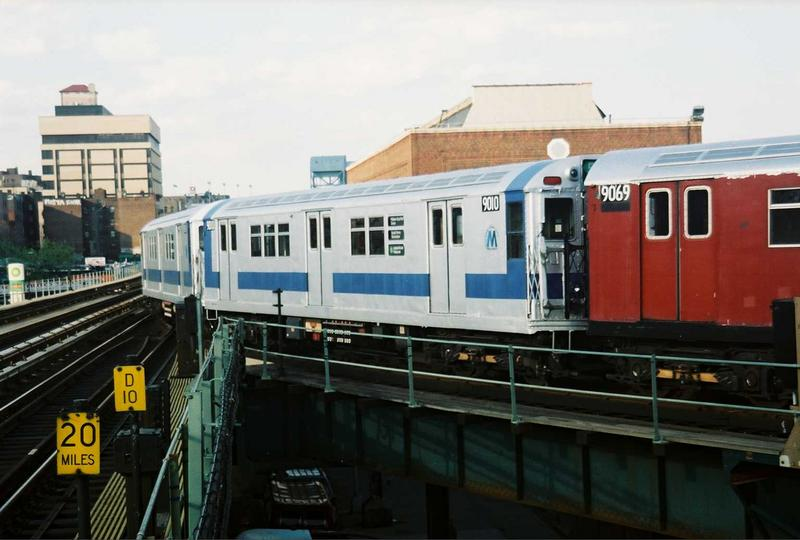 (59k, 800x540)<br><b>Country:</b> United States<br><b>City:</b> New York<br><b>System:</b> New York City Transit<br><b>Location:</b> 207th Street Yard<br><b>Route:</b> Fan Trip<br><b>Car:</b> R-33 Main Line (St. Louis, 1962-63) 9010 <br><b>Photo by:</b> Gary Chatterton<br><b>Date:</b> 5/1/2005<br><b>Viewed (this week/total):</b> 2 / 2337