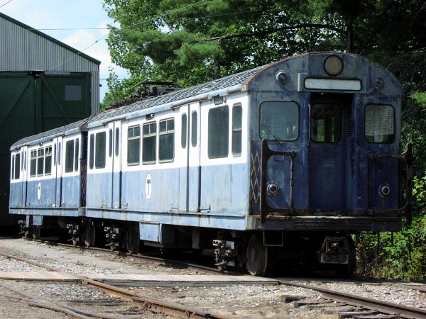 (99k, 600x450)<br><b>Country:</b> United States<br><b>City:</b> Kennebunk, ME<br><b>System:</b> Seashore Trolley Museum <br><b>Car:</b> MBTA 0550 Series (St. Louis, 1951)  0599 <br><b>Photo by:</b> Trevor Logan<br><b>Date:</b> 8/21/2001<br><b>Viewed (this week/total):</b> 2 / 4309